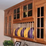 custom storage overhead kitchen cabinet