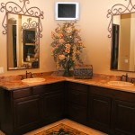 custom double sink vanity cabinets