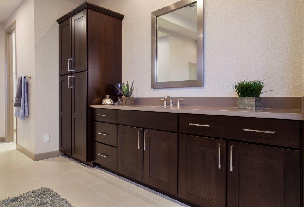 chocolate poplar bathroom vanity cabinets