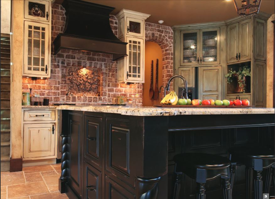 vintage traditional kitchen cabinets