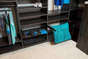 Oakcraft closet system custom cabinets