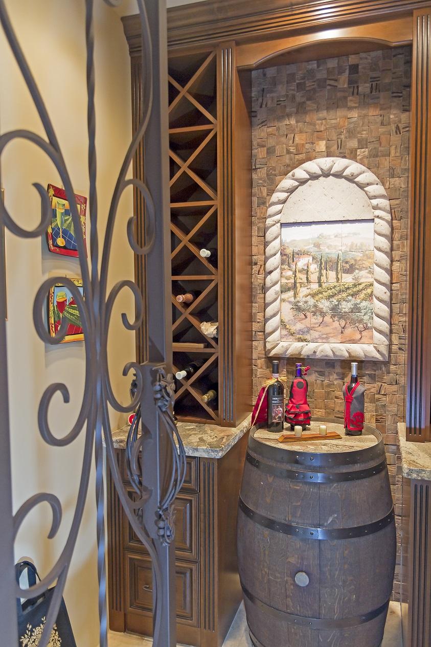 Phoenix Blackstone Custom Transitional custom wine cellar