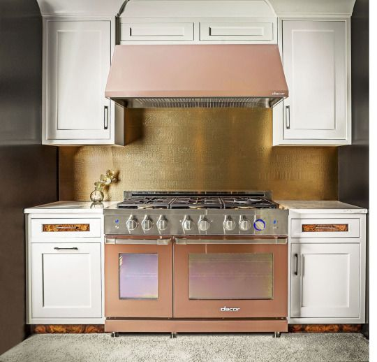 Rose Gold Appliances Cornerstone Cabinet Company