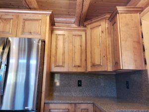 kitchen, stacked upper cabinets, molding
