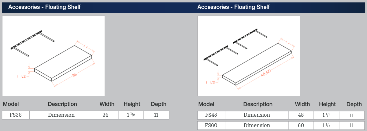 Accessories - Floating Shelf