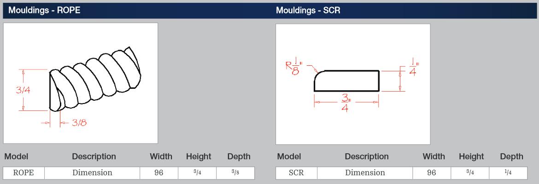 Mouldings - ROPE