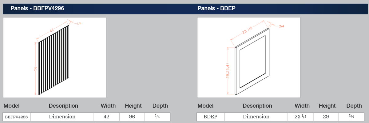 Panels - BBFPV4296